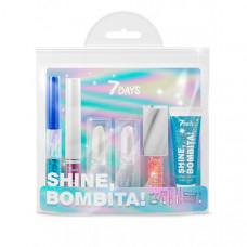 7Days Подарочный набор для макияжа, косметичка shine bombita №4 miracle 6 средств