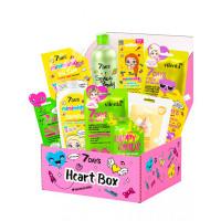 7Days Подарочный набор средств по уходу за кожей лица, тела и волосами heart box №304