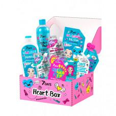 7Days Подарочный набор средств по уходу за кожей лица, тела и волосами heart box №305