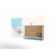 ABC-King Полка навесная надстройка на стол Mix Ocean (левая)