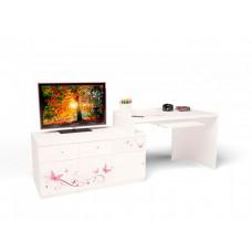 ABC-King Стол модульный Г и Тумба 400+800 Swarovski Фея (правый)