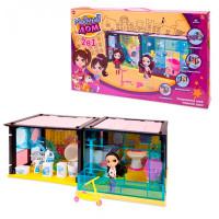 ABtoys Модный дом с куклой и мебелью 2 в 1 (85 деталей)