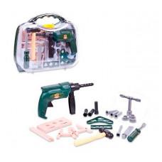 ABtoys Помогаю папе Набор инструментов в чемоданчике (22 предмета)