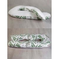 AmaroBaby Подушка для беременных Exclusive Soft Collection Папоротники 340х72 см