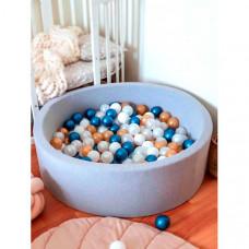 Anlipool Сухой бассейн с комплектом шаров Metallic blue 70 см