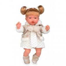 Arias Elegance Кукла с мягким телом 28 см в платьице в горошек