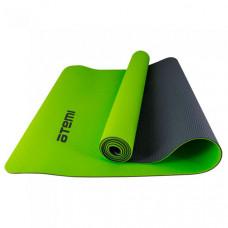 Atemi Коврик для йоги и фитнеса двухцветный 173х61х0.4 см