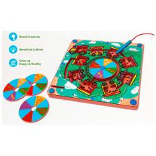 Avenir Развивающая игра Деревянный лабиринт с магнитными шариками