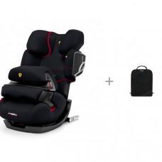 Автокресло Cybex Pallas 2-Fix FE Ferrari + защитный коврик на спинку сидений