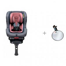 Автокресло Daiichi First 7 Plus Isofix Rosewood с зеркалом BeSafe Baby Mirror для контроля за ребенком