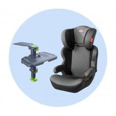 Автокресло Heyner MaxiProtect Aero с подножкой для детских автокресел Ingarden Knee Guard Kids 3
