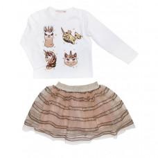 Baby Rose Комплект для девочки (лонгслив, юбка) 3227