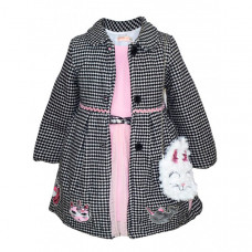 Baby Rose Комплект для девочки (пальто, платье, сумка) 3225