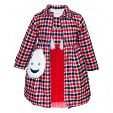 Baby Rose Комплект для девочки (пальто, платье, сумка) 3229