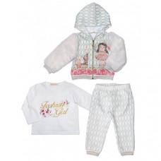 Baby Rose Комплект для девочки (жакет, лонгслив, брюки) 3271