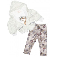 Baby Rose Комплект для девочки жакет, лонгслив и джинсы 3273