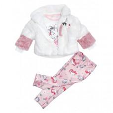 Baby Rose Комплект для девочки (жакет, лонгслив, леггинсы) 3281