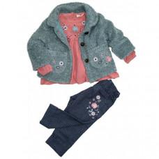 Baby Rose Комплект для девочки (жакет, туника, брюки) 3240