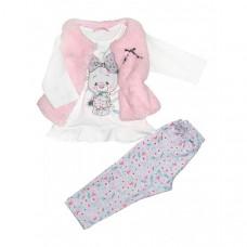 Baby Rose Комплект для девочки жилет, лонгслив и леггинсы 7575