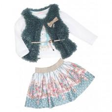 Baby Rose Комплект для девочки (жилет, лонгслив, юбка) 3302
