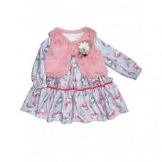 Baby Rose Комплект для девочки (жилет, платье) 3280