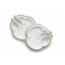 BabyBjorn Комплект (2 тарелки, 2 ложки, 2 вилки) однотонные