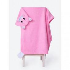 BabyBunny Полотенце с капюшоном Кошечка L 150х85 см