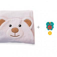 BabyBunny Полотенце с капюшоном Мишка и игрушка для ванны Playgro Фонтанчик