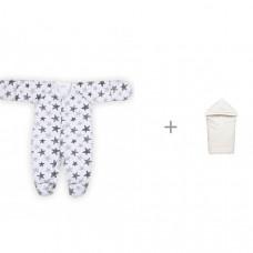 Babyglory Комбинезон швы наружу для мальчика Little Boss с конвертом-одеялом Ангелочки Зоопарк