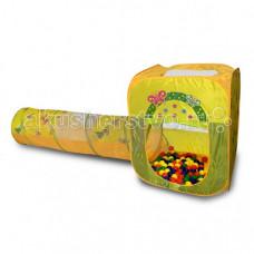 BabyOne Ching-Ching Игровой домик квадратный + туннель + 100 шариков