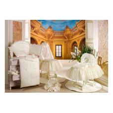 Балдахин для кроватки BabyPiu Шелковые эмоции - Балдахин для кроватки с бантом и вышивкой