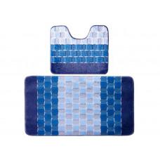 Banyolin Silver Комплект ковриков для ванной комнаты 60х100/50х60 см 2 шт.