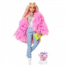 Barbie Экстра Кукла в розовой куртке