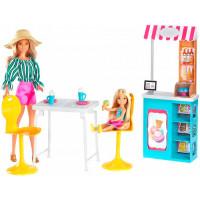 Barbie Игровой набор Магазин кафе мороженое с куклой Барби и Челси