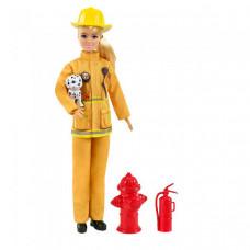 Barbie Кукла Барби пожарный в пожарной форме и с тематическими аксессуарами