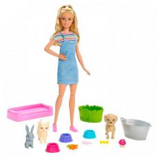 Barbie Набор игровой Кукла и домашние питомцы