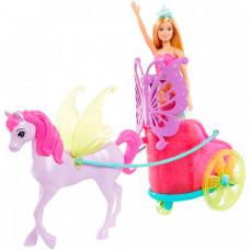 Barbie Набор игровой Сказочный экипаж с единорогом