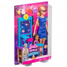 Barbie Учитель космонавтики с куклой Барби и ребенком в классе с аксессуарам