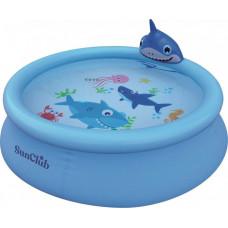 Бассейн Jilong надувной Shark 3D Spray 190х47 см