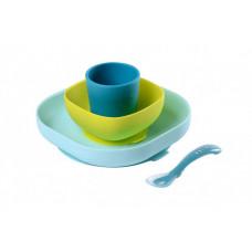 Beaba Набор посуды (2 тарелки, стакан, ложка) Silicone Meal Set
