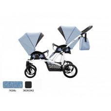 Bebetto Прогулочная коляска 42 Sport Сomfort для двойни Белая рама