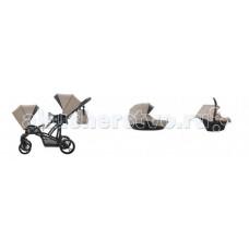Bebetto Прогулочная коляска 42 Sport Сomfort для двойни Черная рама