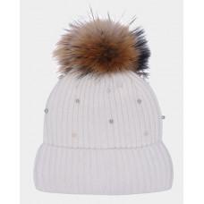 Белая шапка вязаная на подкладке Gulliver 22001GMC7306