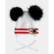 Белая шапка вязаная на подкладке Gulliver 22002GMC7304