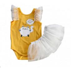 Bella Monella Комплект для девочки (Боди и юбка) 111-0077