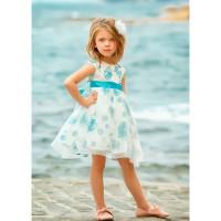 Bella Monella Платье из синтетических волокон на хлопковом подкладе 204-0003