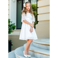 Bella Monella Платье хлопковое кружевное на подкладе