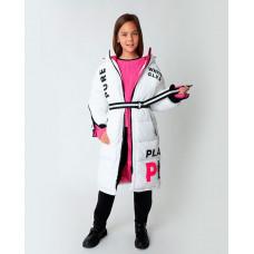 Белое пальто зимнее Gulliver