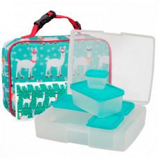 Bentology Сумка для ланча Lama с набором ланч-боксов и хладоэлементом