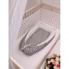 Body Pillow Гнездышко-кокон для новорожденных со съемным матрасиком Звездочки
